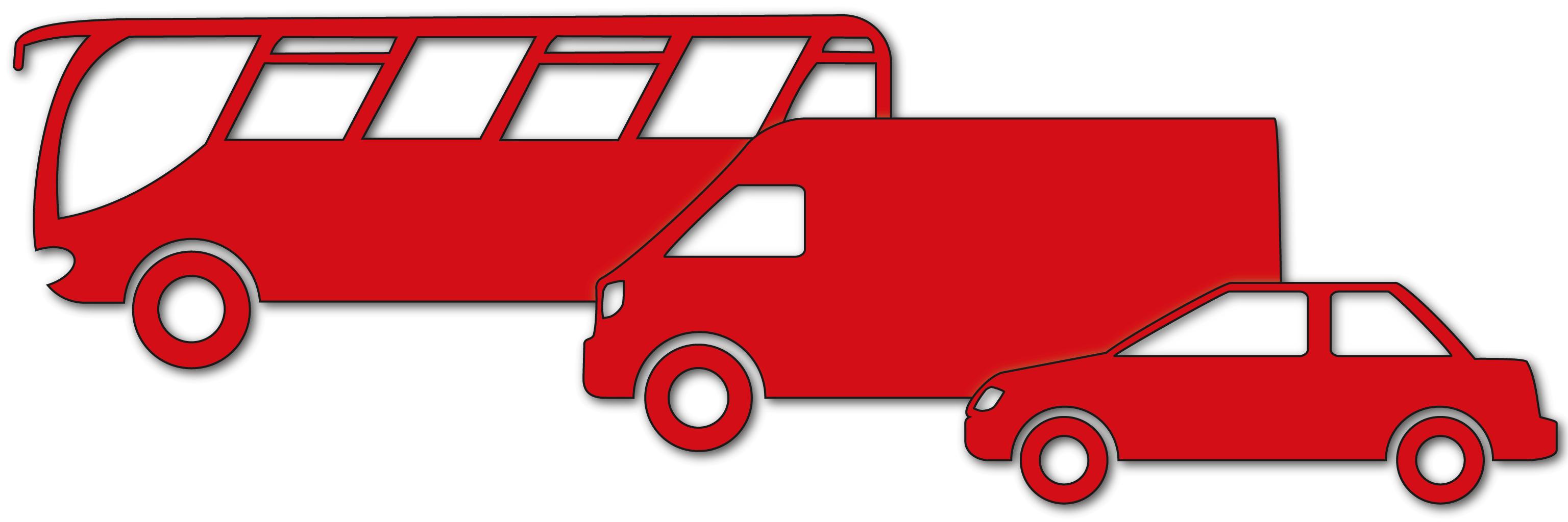 Sammelbild Transporter Bus Pkw