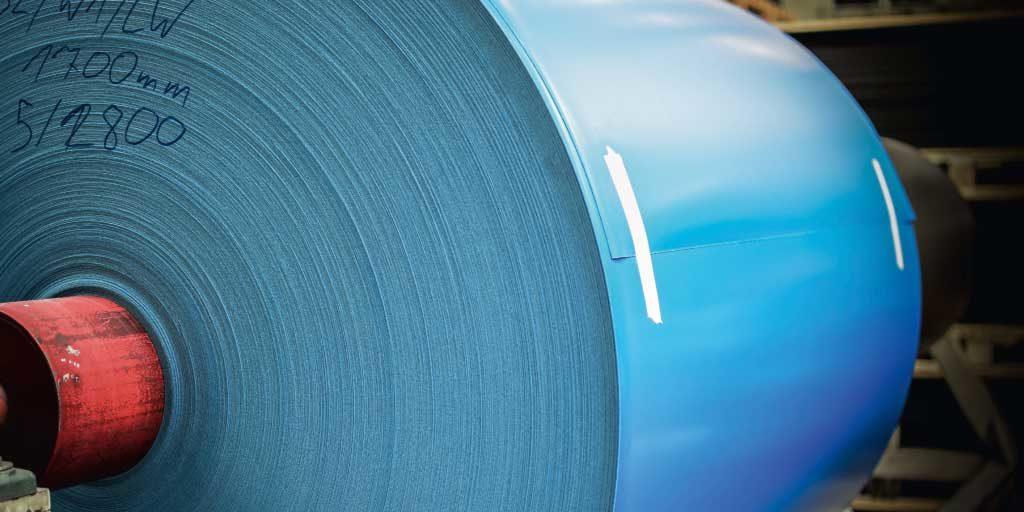 Plastic foil blue innovative