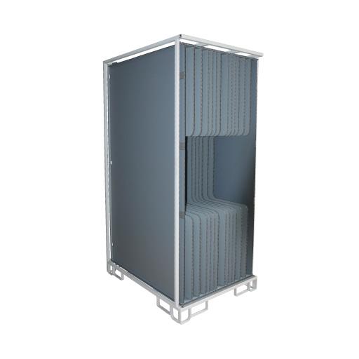 Transportbox Kunststoff und Stahl Mehrwegladungsträger