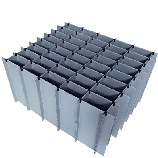Gefache für Kleinbauteile Con-Pearl Kunststoff Unterteiler