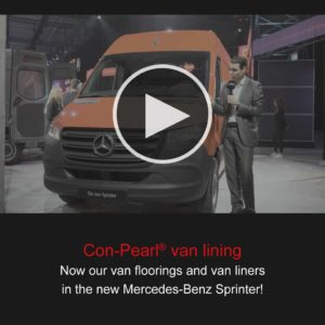 Con-Pearl® van lining in the new mercedes sprinter