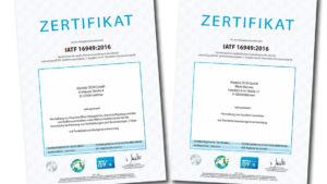 IATF Zertifikate friedola TECH GmbH