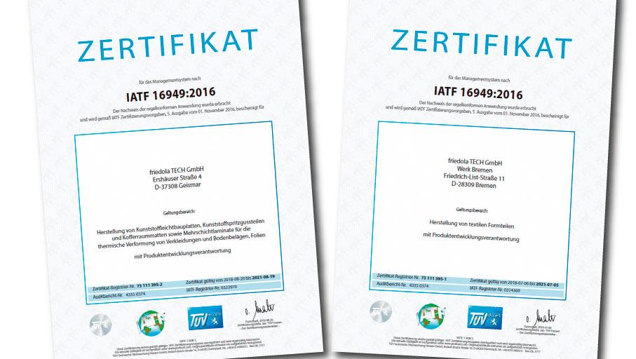 IATF Zertifikate con-pearl GmbH