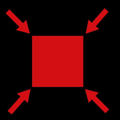 Volumenreduzierung rot