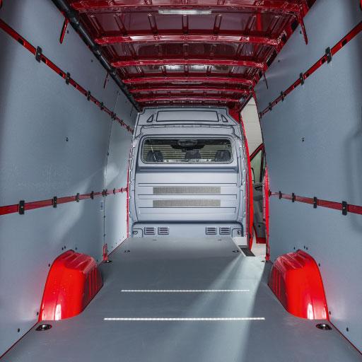 Innenraum Sprinter/Crafter mit Kunststoffauskleidung