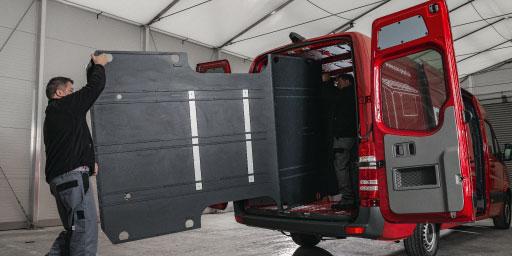 Ultra leichter Sprinter Transporterboden aus Kunststoff