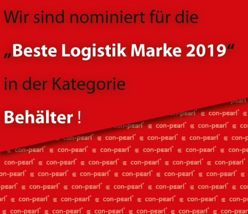 Beste Logistik Marke 2019 - wir sind nominiert von der Leser- und Expertenwahl der LOGISTIK HEUTE