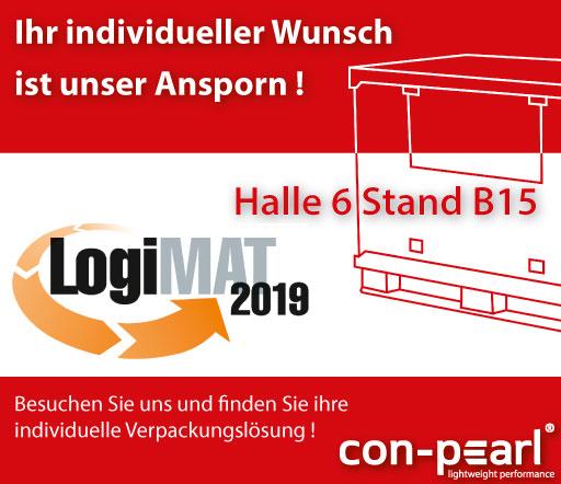 Con-Pearl ist auf der LogiMAT in Stuttgart vertreten. Halle 6 Stand B15