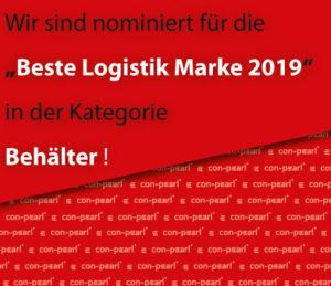 Wir sind nominiert zur Besten Logistik Marke 2019 von der Leser- und Expertenwahl der LOGISTIk HEUTE