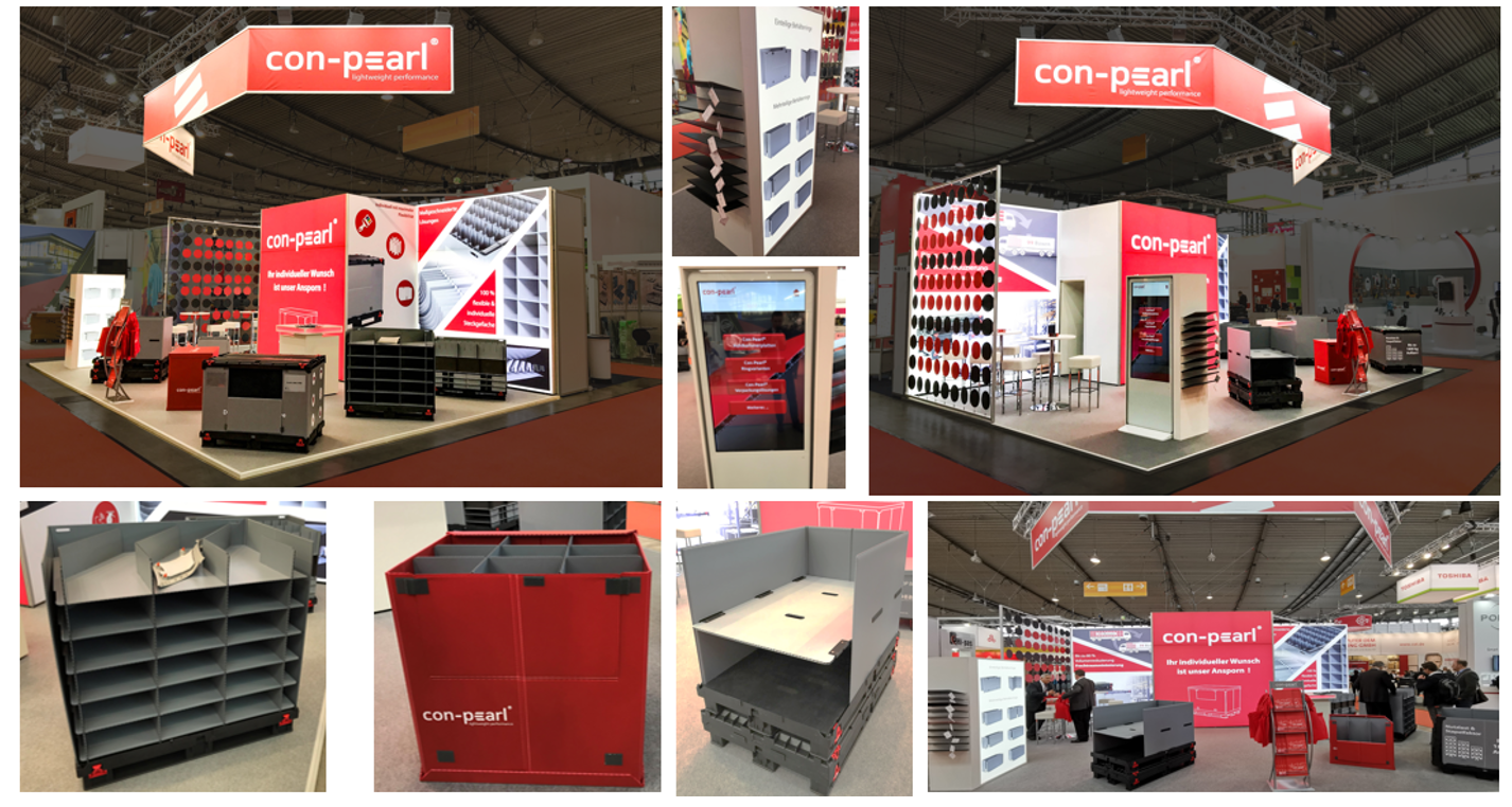 our booth at trade faier logimat
